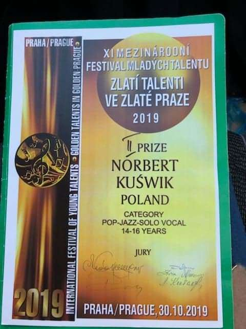 "XI International Festival of Young Talents – ""Golden Talents In Golden Prague 2019"""